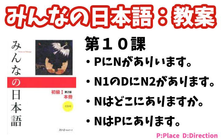 【教案】みんなの日本語初級1:第10課