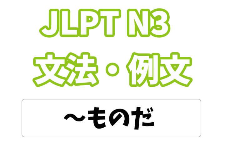 【JLPT N3】文法・例文:〜たものだ