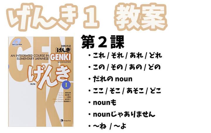 げんき1 初級日本語 第2課