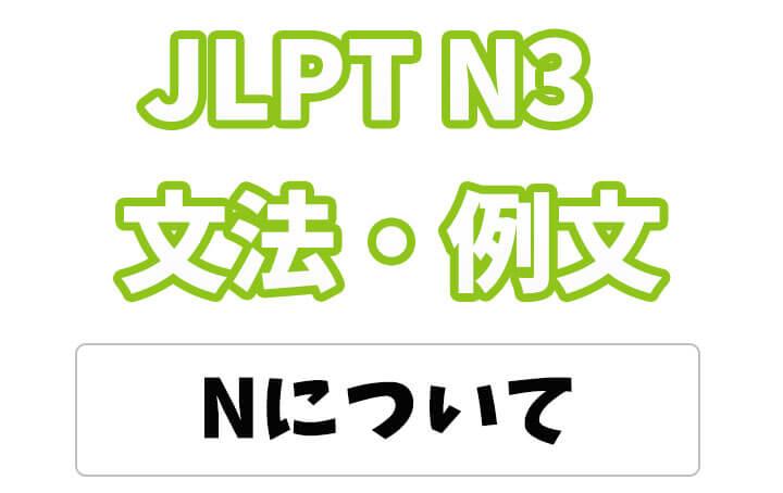 【JLPT N3】文法・例文:〜について