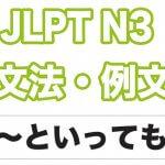 【JLPT N1】文法・例文:〜といえども