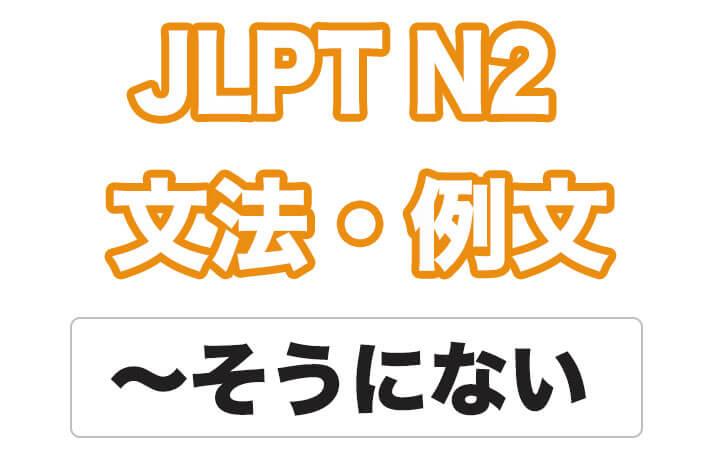 日本語文型:〜そうにない