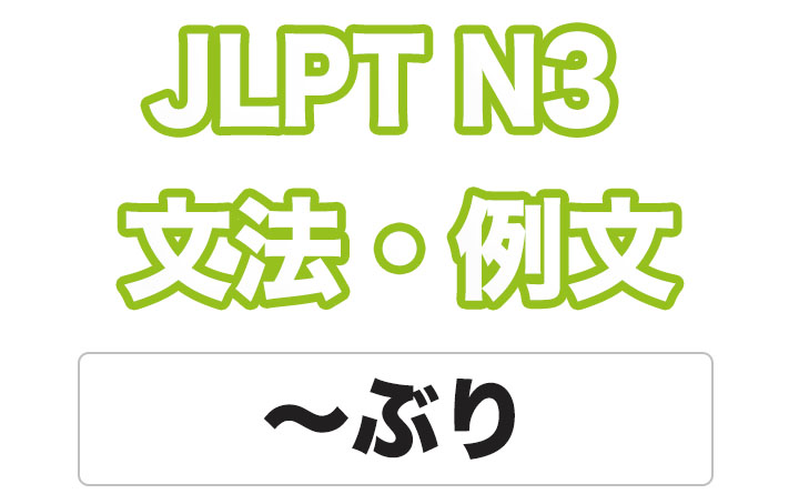 日本語文型:〜ぶり