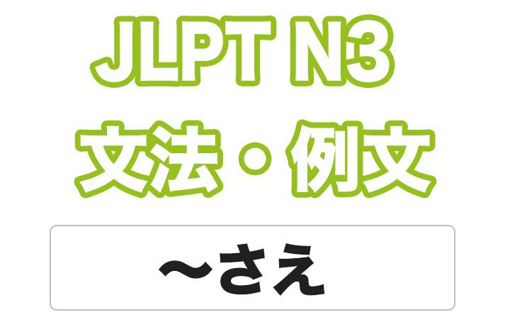 日本語文型:〜さえ