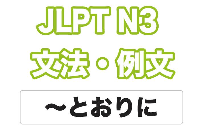 日本語文型:〜とおりに