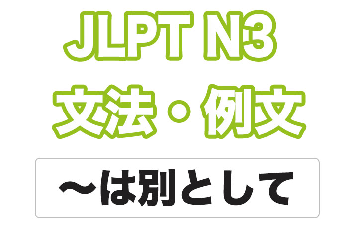 日本語文型:〜は別として