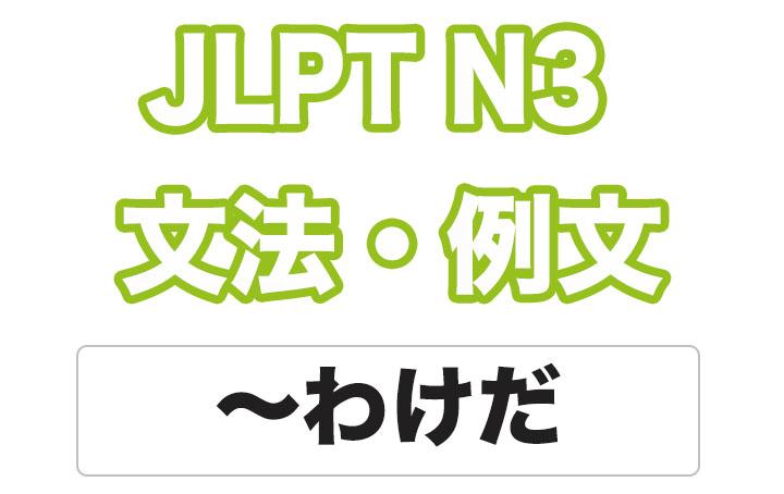 日本語文型:〜わけだ