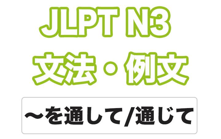 日本語文型:〜を通して