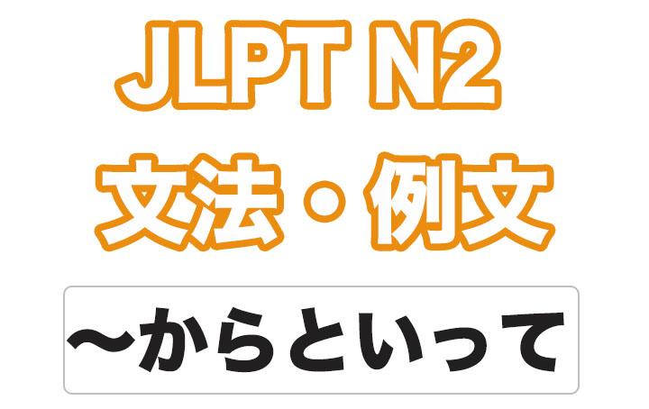 日本語文型:〜からといって
