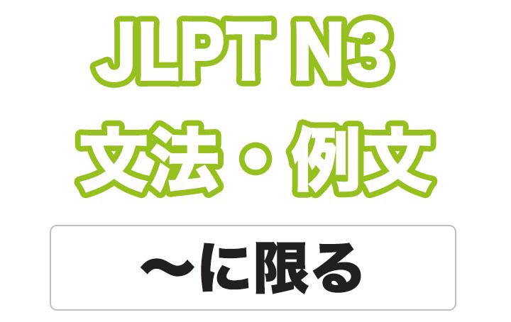 日本語文型:〜に限る