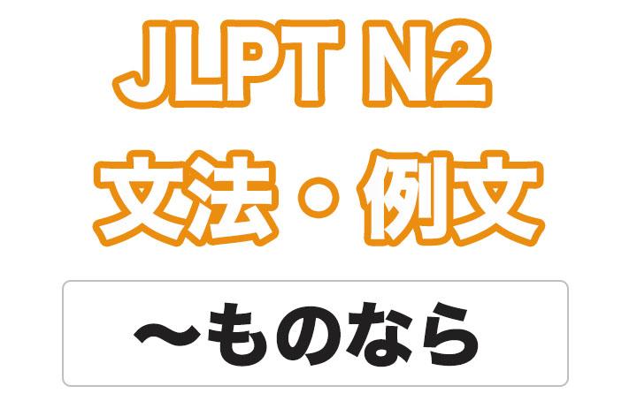 日本語文型:〜ものなら