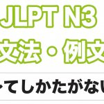 【JLPT N3】文法・例文:〜てしかたがない / 〜でしょうがない
