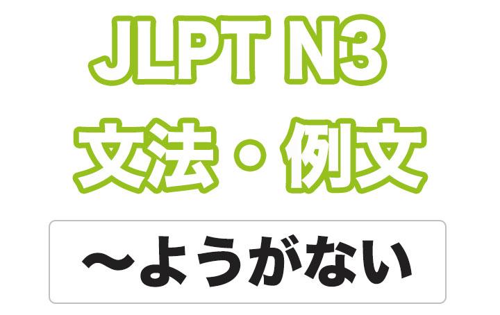 日本語文型:〜ようがない