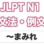 【JLPT N1】文法・例文:〜まみれ