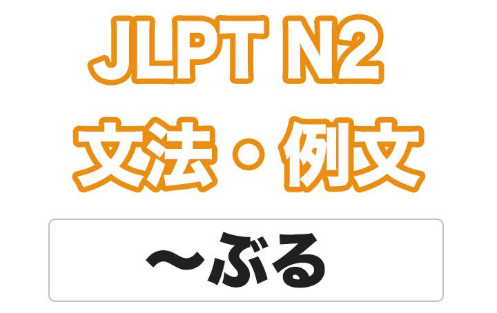 【JLPT N2】文法・例文:〜ぶる