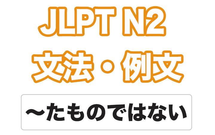 【JLPT N2】文法・例文:〜たものではない