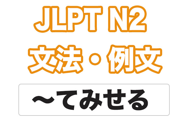 【JLPT N2】文法・例文:〜てみせる