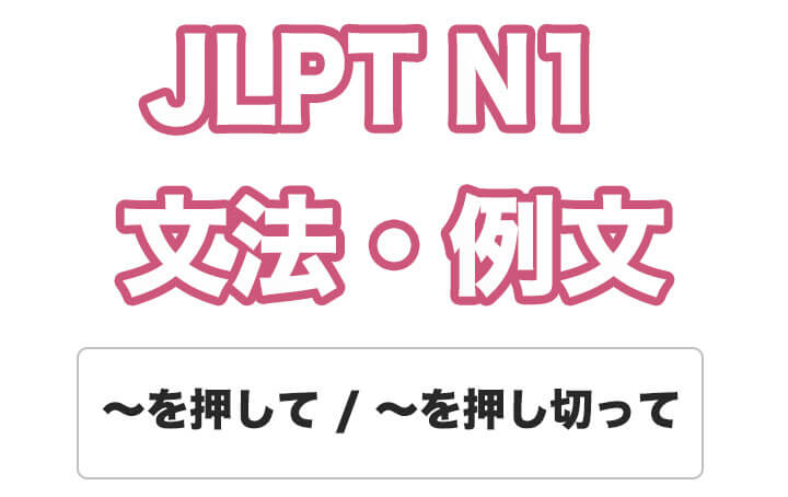 【JLPT N1】文法・例文:〜を押して / 〜を押し切って