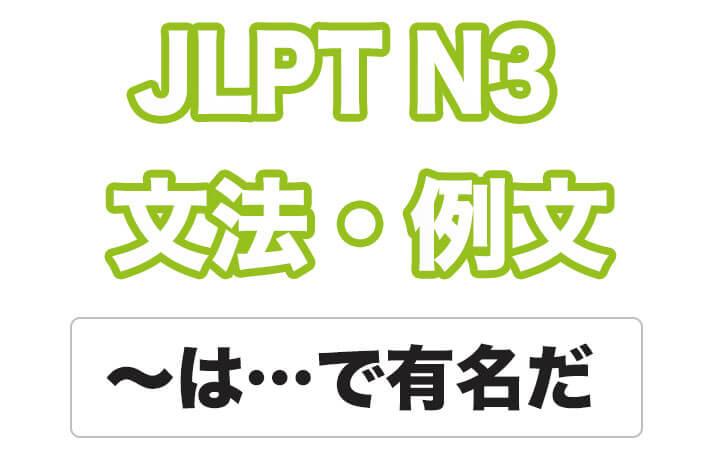 【JLPT N3】文法・例文:〜は・・・で有名だ