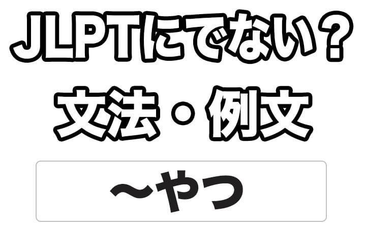 【JLPTに出ない?】文法・例文:~やつ
