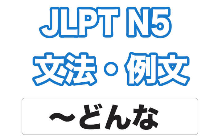 【JLPT N5】文法・例文:どんな