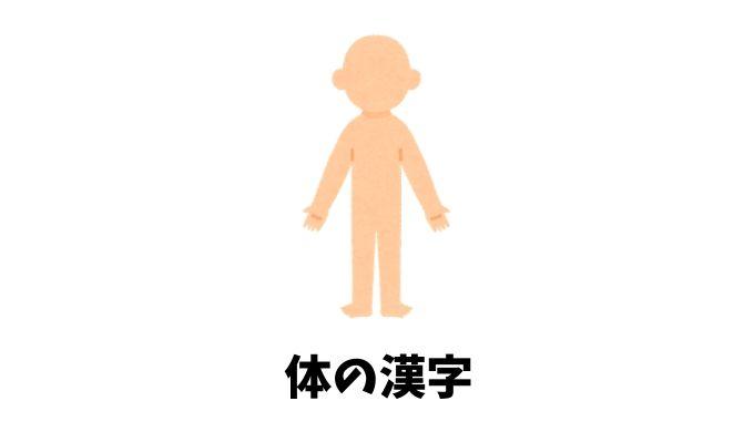 体の漢字リスト