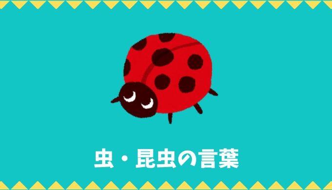 【日本語語彙】虫・昆虫の言葉リスト