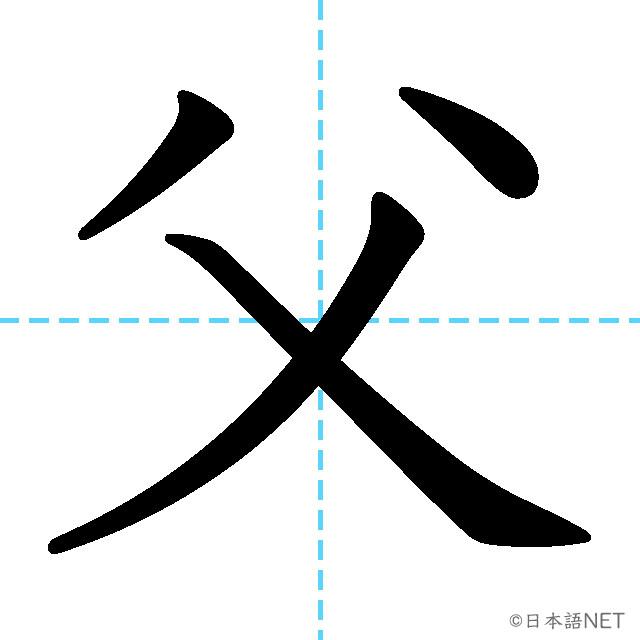 【JLPT N5漢字】「父」の意味・読み方・書き順