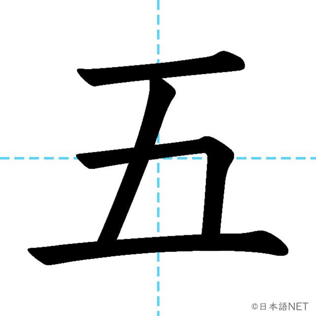 【JLPT N5漢字】「五」の意味・読み方・書き順