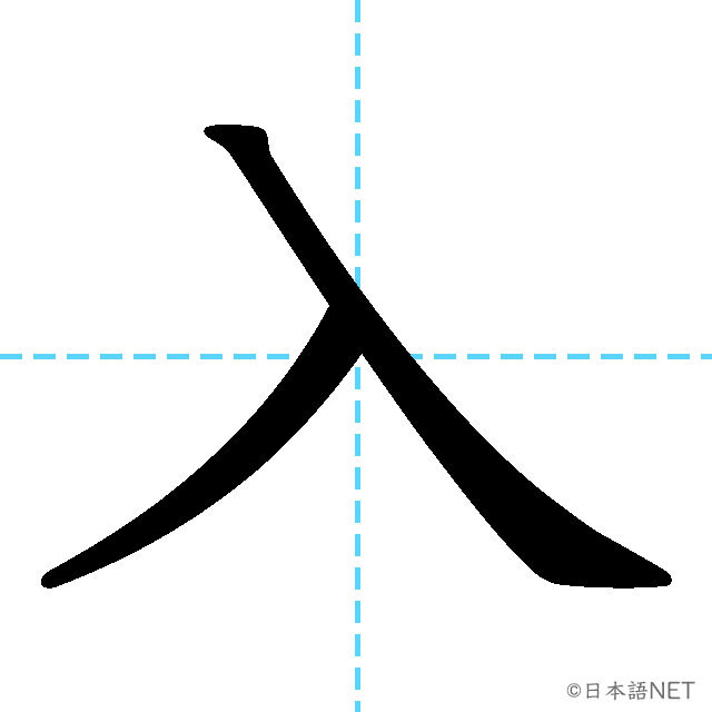【JLPT N5漢字】「入」の意味・読み方・書き順