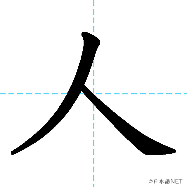 【JLPT N5漢字】「人」の意味・読み方・書き順