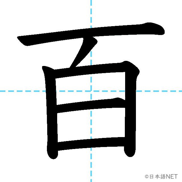 【JLPT N5漢字】「百」の意味・読み方・書き順