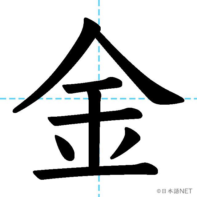 【JLPT N5漢字】「金」の意味・読み方・書き順