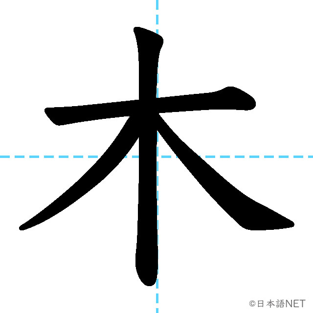 【JLPT N5漢字】「木」の意味・読み方・書き順