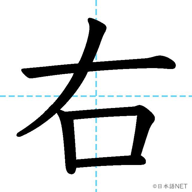 【JLPT N5漢字】「右」の意味・読み方・書き順