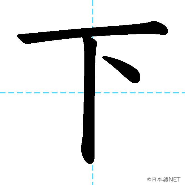 【JLPT N5漢字】「下」の意味・読み方・書き順
