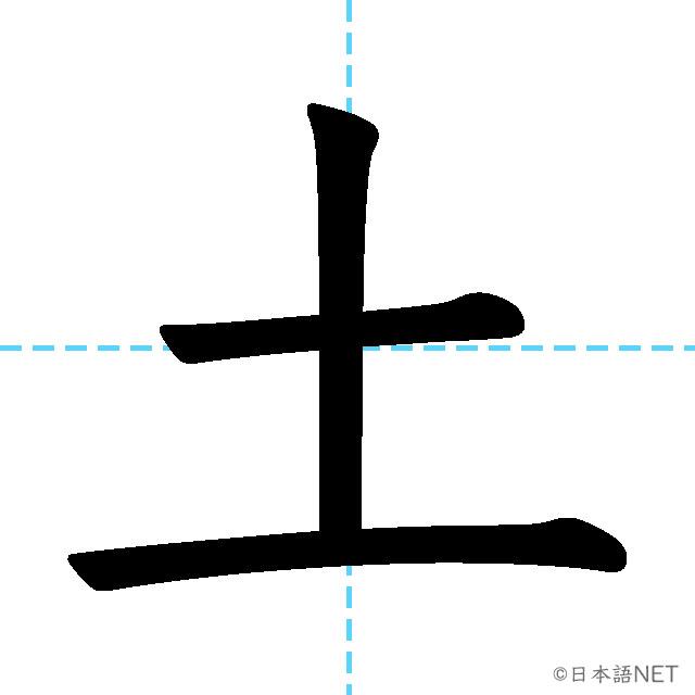 【JLPT N5漢字】「土」の意味・読み方・書き順