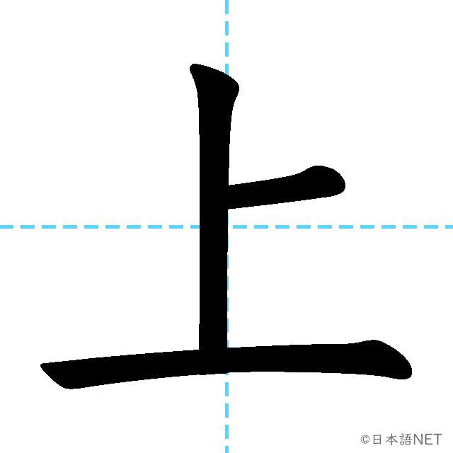 【JLPT N5漢字】「上」の意味・読み方・書き順