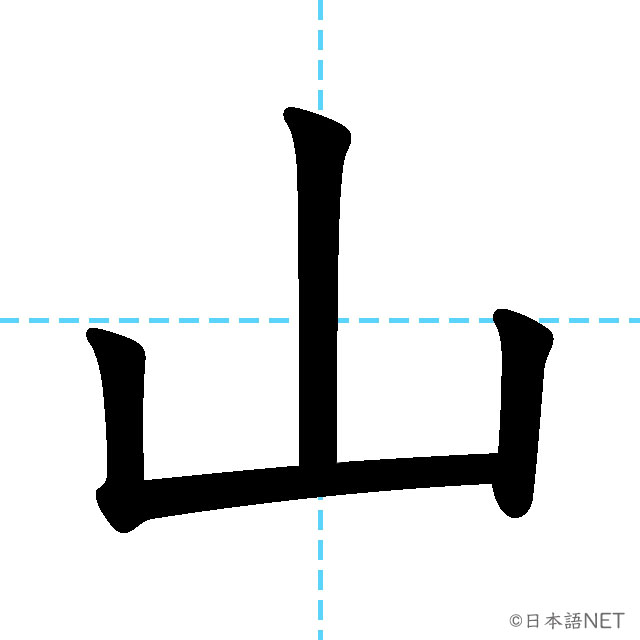 【JLPT N5漢字】「山」の意味・読み方・書き順