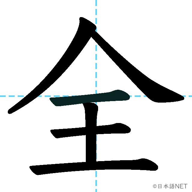 【JLPT N3漢字】「全」の意味・読み方・書き順