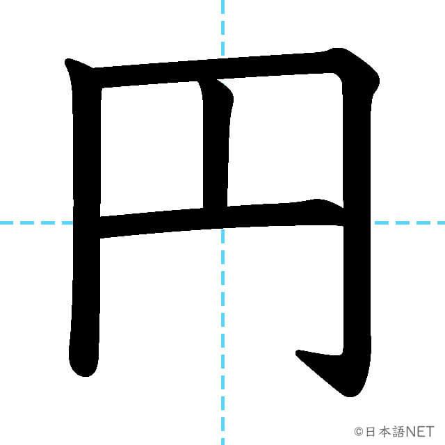【JLPT N5漢字】「円」の意味・読み方・書き順
