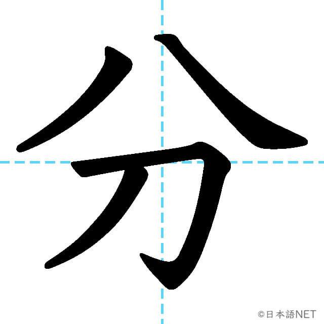 【JLPT N5漢字】「分」の意味・読み方・書き順