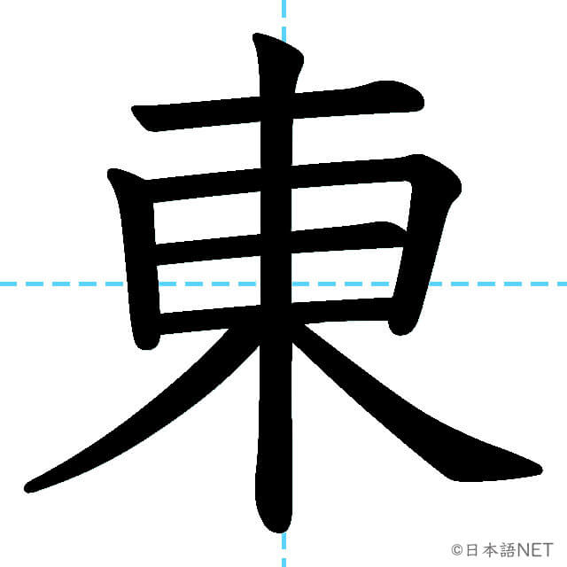 【JLPT N5漢字】「東」の意味・読み方・書き順