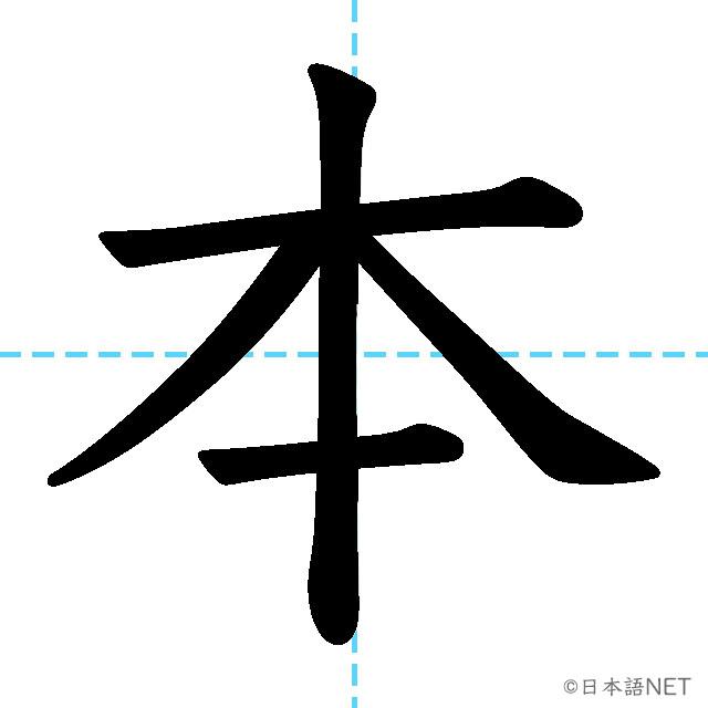 【JLPT N5漢字】「本」の意味・読み方・書き順