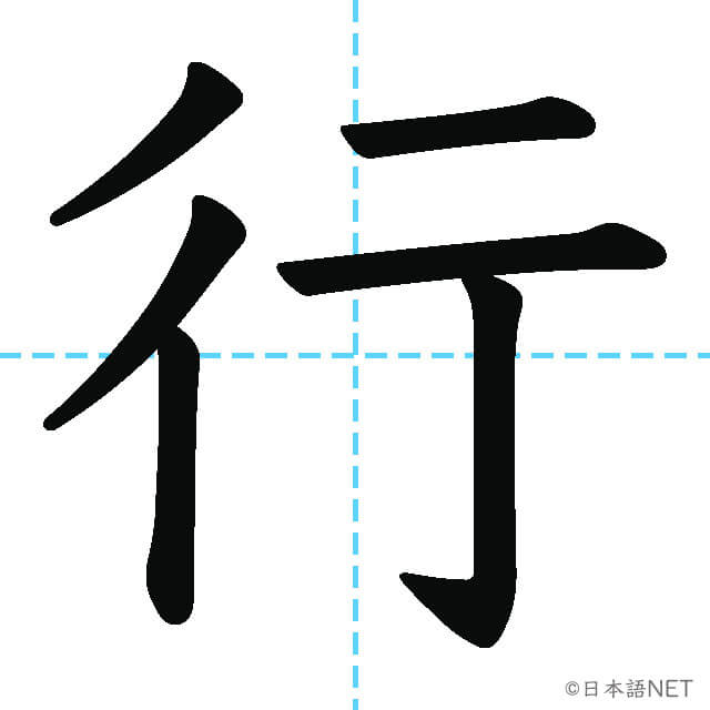 【JLPT N5漢字】「行」の意味・読み方・書き順