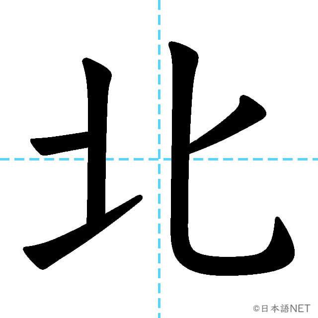 【JLPT N5漢字】「北」の意味・読み方・書き順