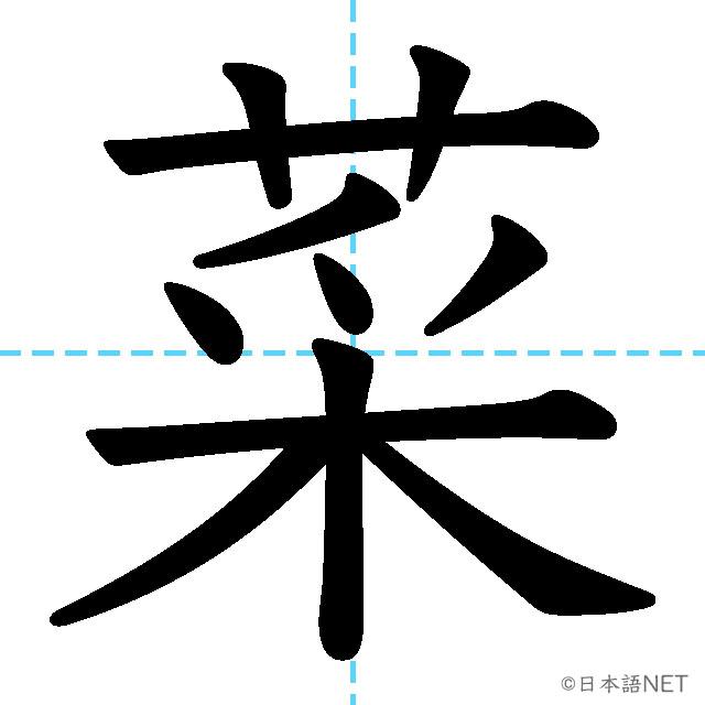 【JLPT N4漢字】「菜」の意味・読み方・書き順