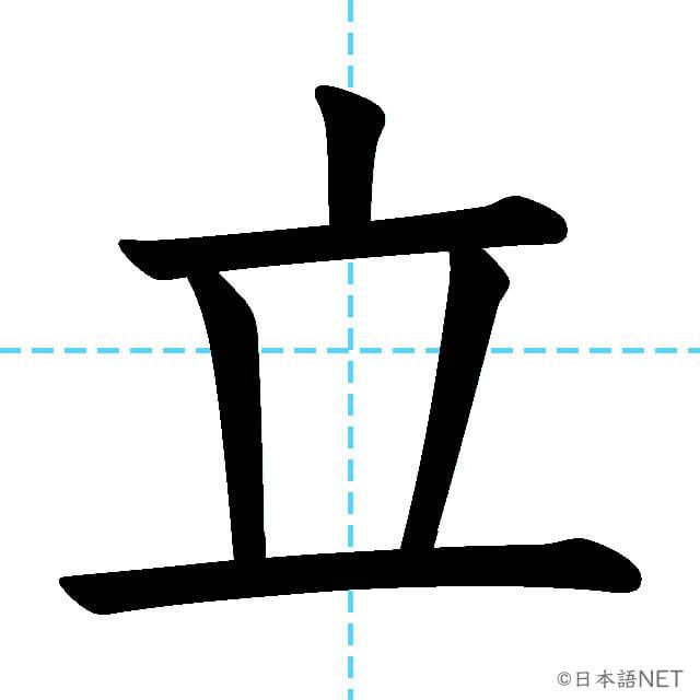 【JLPT N5漢字】「立」の意味・読み方・書き順