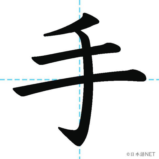 【JLPT N5漢字】「手」の意味・読み方・書き順