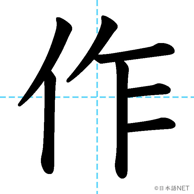 【JLPT N4漢字】「作」の意味・読み方・書き順